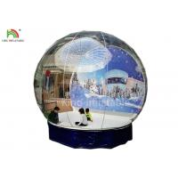 China Human Size Inflatable Snow Ball Clear 0.8 mm PVC  Globe Photo Taking EN14960 wholesale