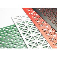 Buy cheap Powder Coated Decorative Perforated Metal Extremely Versatile Large Open Area from wholesalers