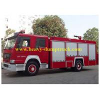 China HOWO Commercial Fire Fighting Trucks 7m3 Water Tank Foam 5 to 50T Capacity wholesale