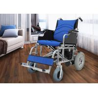 China Medical Electric Folding Wheelchair , Fold Up Wheelchair Chrome Plated Steel wholesale