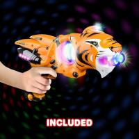 Buy cheap Cute Flashing Light Up Toy Gun Sound Flashing Kids Space Gun Tiger Shape from wholesalers