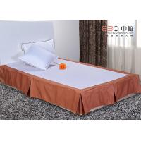 China Polyester Material Hotel Bed Skirts Queen / King Size Hotel Textile Products wholesale