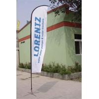 China Double / Single Side Printing Outdoor Advertising Sail Banners 100% 110g Polyester wholesale