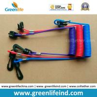 China Hot Selling Plastic Spring String and Cotton Core Safety Hand Motor Switch Lanyard wholesale