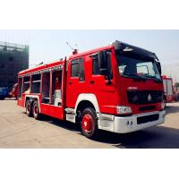 China Sinotruk ZZ1166SSMC46100 Fire Fighting Vehicles 4600mm wheelbase Red Flame On Road 6X4 / 4X2 wholesale