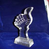 China Custom Acrylic Award Trophy , Personalized Award Plaques For Employee wholesale