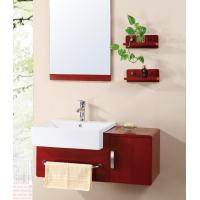 Quality Newest Solid wood ceramic basin bathroom cabinet for sale