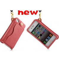 China the lastest  wallet pu leather  case cover with lanyard  for iphone 5s, iphone 4s on sale