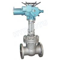 China PN 0.25 - 6.4 Mpa Electric/ Manual Flanged Gate Valve / Sluice Valve for Hydro Power Station wholesale