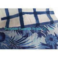 China Men's Shorts 55 Inch Natural Print Cotton Linen Fabric 180GSM For Ladies Skirt wholesale