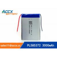 China 585372 3000mAh lithium polymer battery for digital products 3.7V with PCM protection wholesale