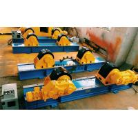 China 40 Ton Rubber Coated Tank Turning Rolls With Foot Pedal Control on sale
