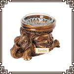 China creative resin animal antique elephant ashtray New Type poly resin ashtray DA0339GE wholesale