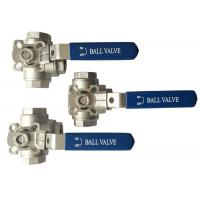 "China 1/2"" to 2 Stainless Steel 304 316 flow Control T and L Type  3  way diverter ball valve on sale"