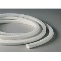 China White Lattice Braided Teflon Packing , PTFE Packing With Oil Or Without Oil wholesale