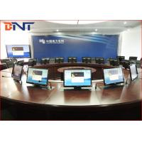 China Commercial Meeting Table Motorized Pop Up Lift For 19 - 24 Inch LCD Screen wholesale