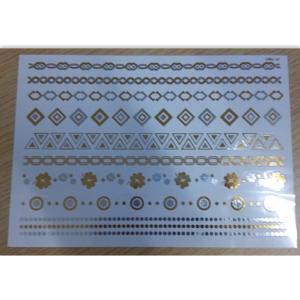 China Long lasting Metallic Tattoo Sticker water transfer / temporary adult tattoos wholesale