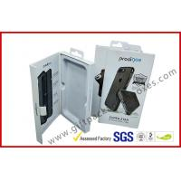 China Phone case packing box with hanger / magnet electronics packaging box with ribbon wholesale