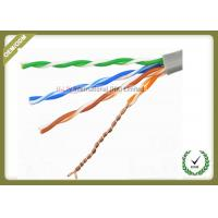 China Solid Bare Copper Conductor Network Fiber Cable Cat5e U/UTP 4x2x0.5 Solid Cuprum wholesale