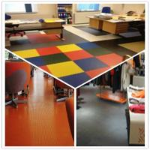 China 3W Anti Slip Indoor Office Interlocking Removable Plastic PVC Floorommg Tiles wholesale