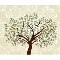 China Tree Bamboo Fiber 3D Decorative Wall Panels Embossed Surface For Entertainment wholesale