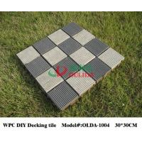 China Eco - Friendly Flooring Interlocking Composite Deck Tiles 30cm * 30cm Rot Resistance wholesale