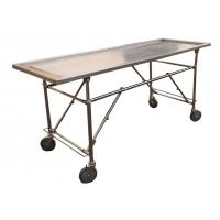 China Foldable Stainless Steel Embalming  Operating Autopsy Tables Mortuary Products wholesale