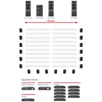 China Black Big Theater Sound System 250 Seats Controlled By Independent Intelligent Intensified Bass Processor wholesale