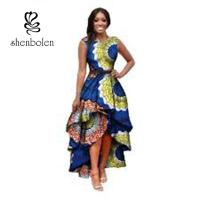 Quality Sleeve Less Fashion Female Beautiful African Print Dresses Eco - Friendly All Over The World for sale