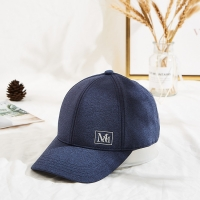 """Buy cheap 3 1/8"""" Crown High Knitted Fabric Baseball Cap Custom MM Logo from wholesalers"""