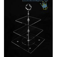 China CD (42) 3-layer cake stand with silver stick wholesale