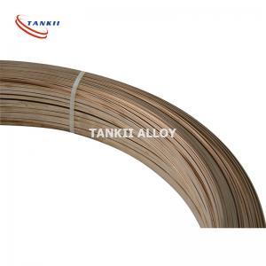 China 4mm*12mm 6J13 Copper Manganese Alloy Resistance Flat Ribbon / Strip wholesale