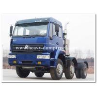 China Sinotruk 371hp Manual Gearbox Tractor Truck for pulling Goose neck detachable low bed trailer wholesale