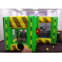 China Indoor Outdoor Inflatable Interactive Games / Inflatable Dunk Tank System For Kids on sale