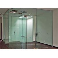 China Clear Flat Tempered Glass Partition Wall / Glass Partition Size Customized wholesale