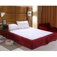 China Easy Fit Bed Skirt Double Size , White Ruffle Bed Skirt For Spa wholesale