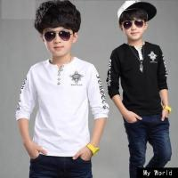 China Beautiful baby long sleeve top striped Boy t shirt kids tops long striped sleeve tops for baby boys wholesale
