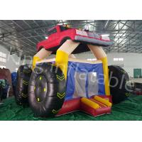 China 5 * 4 M Colorful Car Inflatable Jumping Castle And Commercial  Bouncy Castle wholesale