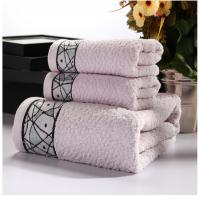 China New Household 100% Cotton Beach Face Towel Set Printed for Adults   Baby Bath Towel Set wholesale