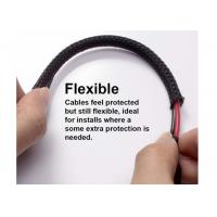 Buy cheap Hose Cable Harness Protection Braided Wire Sleeve , Pet Braided Sleeving UL from wholesalers