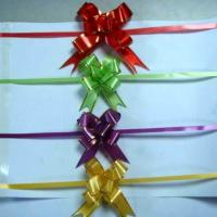 Buy cheap 12mm mini glod thread plastic small pull bows for jewelry packing from wholesalers
