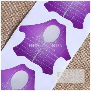 China Aluminum Nail Forms Acrylic Nail Art Extension Guide Tool Wholesale wholesale