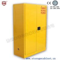 Yellow Drum Flammable Storage Cabinet With Galvanized Steel Shelving