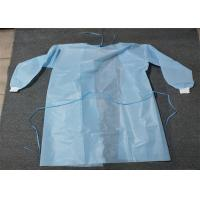 China Knit Cuff Breathable Disposable Coverall Suit Gown Level 1/2/3 White Blue Yellow wholesale
