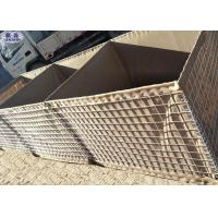 China Anti Blast Wall Welded Wire Mesh , Hesco Barrier Wall For River Flood Protection wholesale