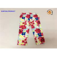 China Super Soft Baby Girl Floral Leggings Flower Print For Fall / Winter Sample Approval wholesale