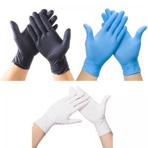 China Spot Black Nitrile Gloves Disposable Powder-Free Latex PVC Vinyl Gloves wholesale
