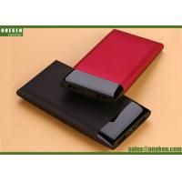 China Super Slim Mobile Power Supply Portable Power Bank 10000mAh , Red Black BLue wholesale
