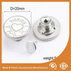 China Metal Zinc Alloy Garment Accessories Jeans Button , Multi Colors custom clothing buttons wholesale