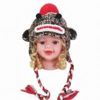 Buy cheap Hand Crochet Knitted Hat/Animal Hat/Monkey Hat for Children, OEM Orders are from wholesalers